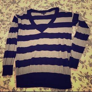 Lightweight GAP VNeck Striped Sweater